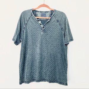 Lucky Brand True Indigo Short Sleeve Shirt Size XL